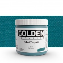 Golden : Heavy Body Acrylic Paint : 473ml : Cobalt Turquoise