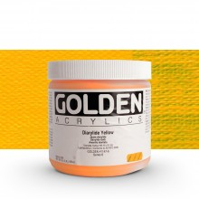 Golden : Heavy Body : Acrylic Paint : 473ml : Diarylide Yellow