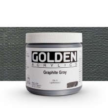 Golden : Heavy Body Acrylic Paint : 473ml : Graphite Grey