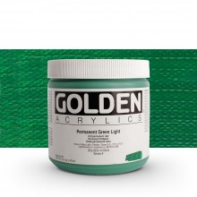 Golden : Heavy Body Acrylic Paint : 473ml : Perm Green Light