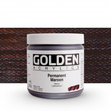 Golden : Heavy Body Acrylic Paint : 473ml Permanent Maroon Vii New