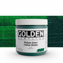 Golden : Heavy Body Acrylic Paint : 473ml : Phthalo Green Yellow Shade