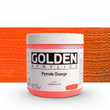 Golden : Heavy Body Acrylic Paint : 473ml : Pyrrole Orange
