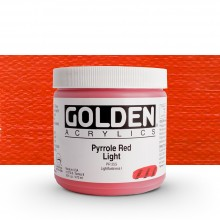 Golden : Heavy Body Acrylic Paint : 473ml : Pyrrole Red Light