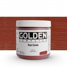 Golden : Heavy Body Acrylic Paint : 473ml : Red Oxide