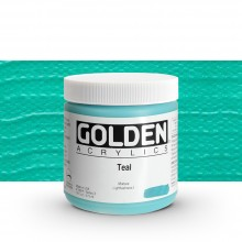 Golden : Heavy Body Acrylic Paint : 473ml : Teal Iii