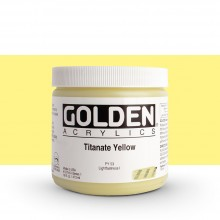 Golden : Heavy Body Acrylic Paint : 473ml : Titanate Yellow