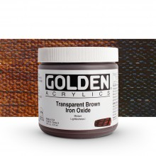 Golden : Heavy Body : Acrylic Paint : 473ml Trans Brown Iron Oxide III New
