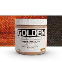 Golden : Heavy Body Acrylic Paint : 473ml : Transparent Red Iron Oxide
