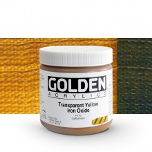 Golden : Heavy Body Acrylic Paint : 473ml : Transparent Yellow Iron Oxide