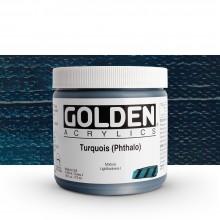 Golden : Heavy Body : Acrylic Paint : 473ml : Turquoise Phthalo