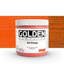 Golden : Heavy Body Acrylic Paint : 473ml : Vat Orange