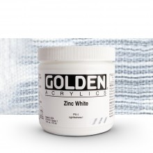 Golden : Heavy Body : Acrylic Paint : 473ml : Zinc White
