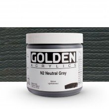 Golden : Heavy Body : Acrylic Paint : 473ml : Neutral Grey No.2