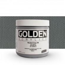 Golden : Heavy Body : Acrylic Paint : 473ml : Neutral Grey No.4