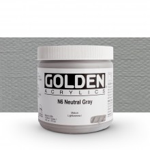 Golden : Heavy Body : Acrylic Paint : 473ml : Neutral Grey No.6