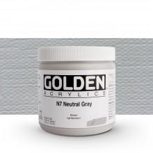 Golden : Heavy Body : Acrylic Paint : 473ml : Neutral Grey No.7