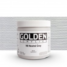 Golden : Heavy Body Acrylic Paint : 473ml : Neutral Grey No.8