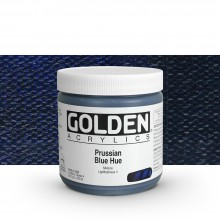 Golden : Heavy Body : Acrylic Paint : 473ml : Prussian Blue Hue