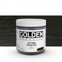 Golden : Heavy Body : Acrylic Paint : 473ml : Van Dyke Brown Hue