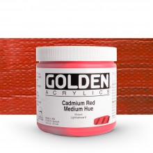 Golden : Heavy Body Acrylic Paint : 473ml : Cad Red Medium Hue