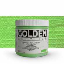 Golden : Heavy Body : Acrylic Paint : 473ml : Light Green Yellow Shade
