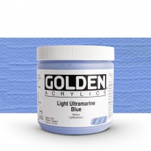Golden : Heavy Body Acrylic Paint : 473ml : Light Ultramarine Blue