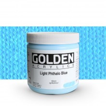 Golden : Heavy Body : Acrylic Paint : 473ml : Light Phthalo Blue I