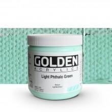 Golden : Heavy Body : Acrylic Paint : 473ml : Light Phthalo Green I