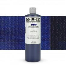 Golden : Fluid : Acrylic Paint : 473ml (16oz) : Anthraquinone Blue