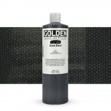 Golden : Fluid : Acrylic Paint : 473ml (16oz) : Bone Black