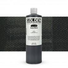 Golden : Fluid Acrylic Paint : 473ml (16oz) : Bone Black