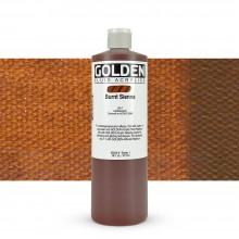 Golden : Fluid Acrylic Paint : 473ml (16oz) : Burnt Sienna