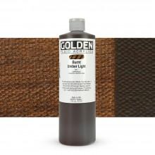 Golden : Fluid : Acrylic Paint : 473ml (16oz) : Burnt Umber Light