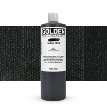Golden : Fluid : Acrylic Paint : 473ml (16oz) : Carbon Black