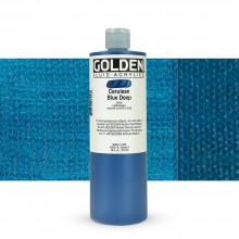 Golden : Fluid : Acrylic Paint : 473ml (16oz) : Cerulean Blue Deep IX