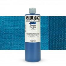 Golden : Fluid Acrylic Paint : 473ml (16oz) : Cerulean Blue Deep IX