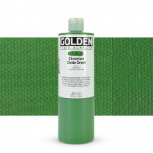 Golden : Fluid : Acrylic Paint : 473ml (16oz) : Chromium Oxide Green