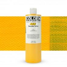 Golden : Fluid Acrylic Paint : 473ml (16oz) : Diarylide Yellow