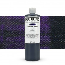 Golden : Fluid : Acrylic Paint : 473ml (16oz) : Dioxazine Purple