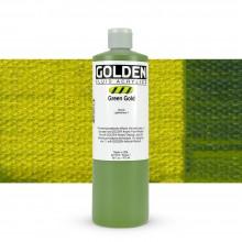 Golden : Fluid Acrylic Paint : 473ml (16oz) : Green Gold
