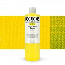 Golden : Fluid : Acrylic Paint : 473ml (16oz) : Hansa Yellow Opaque