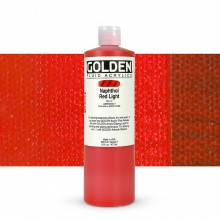 Golden : Fluid Acrylic Paint : 473ml (16oz) : Naphthol Red Light