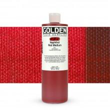 Golden : Fluid : Acrylic Paint : 473ml (16oz) : Naphthol Red Medium