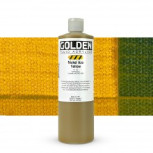 Golden : Fluid : Acrylic Paint : 473ml (16oz) : Nickel Azo Yellow