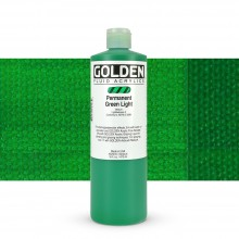 Golden : Fluid : Acrylic Paint : 473ml (16oz) : Permanent Green Light