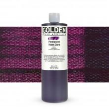 Golden : Fluid Acrylic Paint : 473ml (16oz) : Permanent Violet Dark