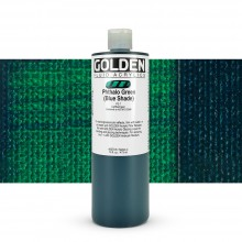 Golden : Fluid : Acrylic Paint : 473ml (16oz) : Phthalo Green Blue Shade