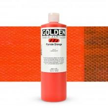 Golden : Fluid Acrylic Paint : 473ml (16oz) : Pyrrole Orange