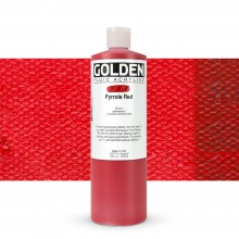Golden : Fluid : Acrylic Paint : 473ml (16oz) : Pyrrole Red